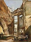 A Girolamo Induno Up Gerolamo Induno Roma Il Portico Di Ottavia Rompecabezas de Madera 1000 Piezas de Juguete para Adultos DIY Challenge Décor
