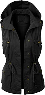 Women's Anorak Utility Jacket Vest Multi-Pockets Outdoors Vest Sleeveless Jacket