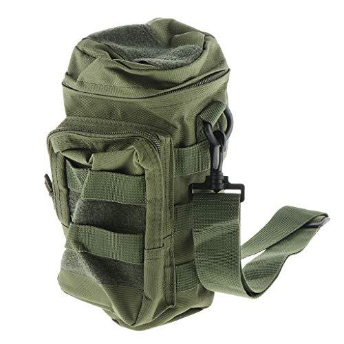 Baoblaze Support Tactique Poche de Bouilloire Sac Militaire de Bouteille d'eau Extérieure - Camouflage Vert, 11 * 15 * 27cm