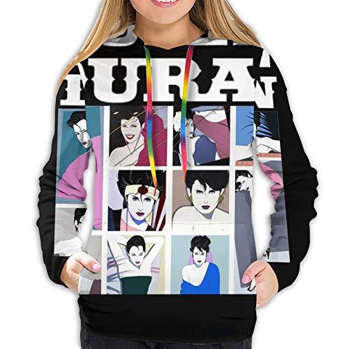 Duran Duran Women's Sweatshirt Fashion Drawstring Hoodie Black