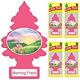 LITTLE TREES Car Air Freshener | Hanging Tree Provides Long Lasting Scent for Auto or Home | Morning Fresh, 6-packs (4 count)