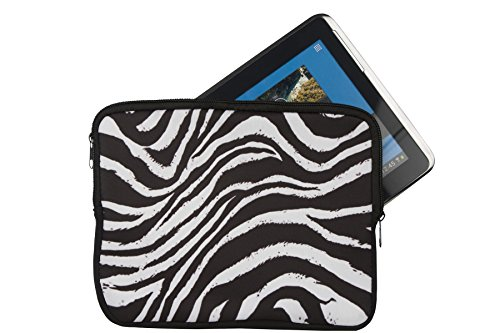 'Fermeture Éclair Tablette PC Sac pour ordinateur portable Coque avec motif Zebra adapté pour 10 \