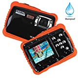 Smyidel Waterproof Mini Kid Camera High Definition 12MP HD 3M Underwater Swimming Digital Camera Camcorder 32G SD Card Flash 2.0 Inch LCD Display (Black)