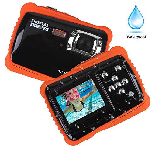 Smyidel Waterproof Mini Kid Camera High Definition 12MP HD 3M Underwater Swimming Digital Camera Camcorder 32G SD Card Flash 2.0 Inch LCD Display (Black)
