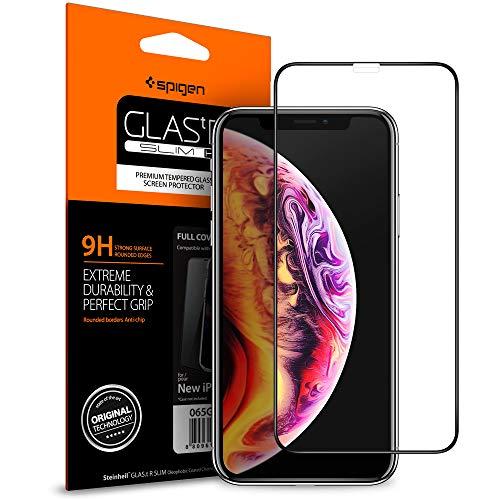 Spigen, Vetro Temperato iPhone 11 PRO Max/XS Max, 6.5 Pollici, 9H, Custodia Compatibile, Copertura Totale, Compatibile con Face ID, Pellicola Protettiva iPhone 11 PRO Max/XS Max
