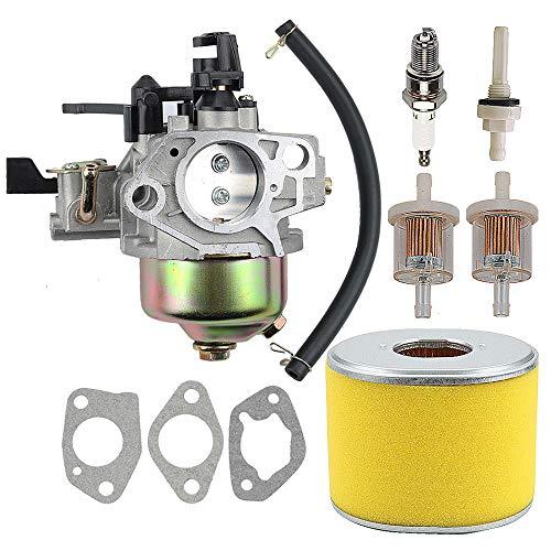 Coolwind 16100-ZF6-V01 Vergaser mit 17210-ZE3-505 Luftfilter Gas Kraftstofftank Gelenkfilter für Honda GX340 GX390 13HP 11HP 16100-ZF6-V00 Rasenmäher Wasserpumpen