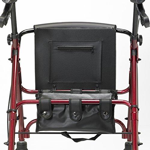 Patterson Medical - Andador ligero de aluminio con ruedas, color rojo