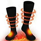 Comfomedic Battery Heated Socks for Men Women - Rechargeable Washable Electric Thermal Warming Socks for Hunting Winter Skiing Outdoors - Battery Included