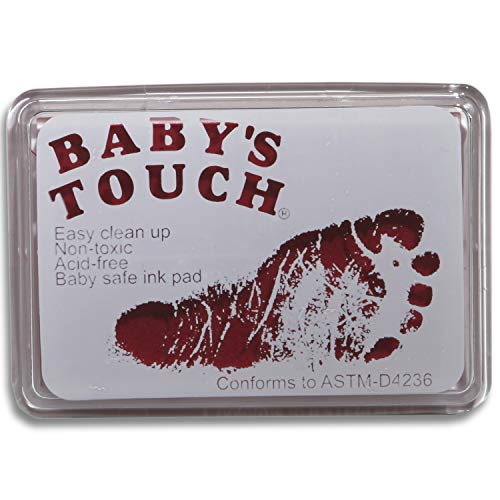 Tampons d'encre pour empreintes de Babys Touch, sans danger pour bébé - Rose