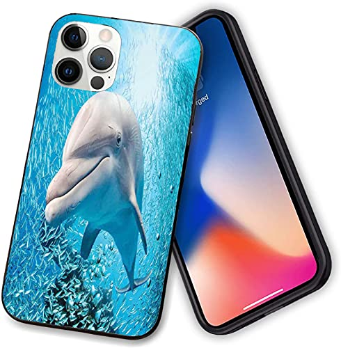 Funda compatible con iPhone 12 Series, un delfín de botella en el océano Fish Sunlight en marino natural bajo el agua, delgado suave TPU para iPhone 12 Pro max-6.7 pulgadas