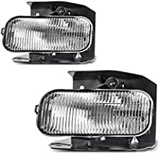 AUTOSAVER88 Fog Lights Compatible with 1999-2003 Ford F150 F250 / 1999-2002 Ford Expedition Clear Lens w/ H10 12V 42W Bulbs