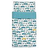 Ikea Rorande Crib Duvet Cover/Pillowcase Cars Blue 43x49/14x22 004.625.62
