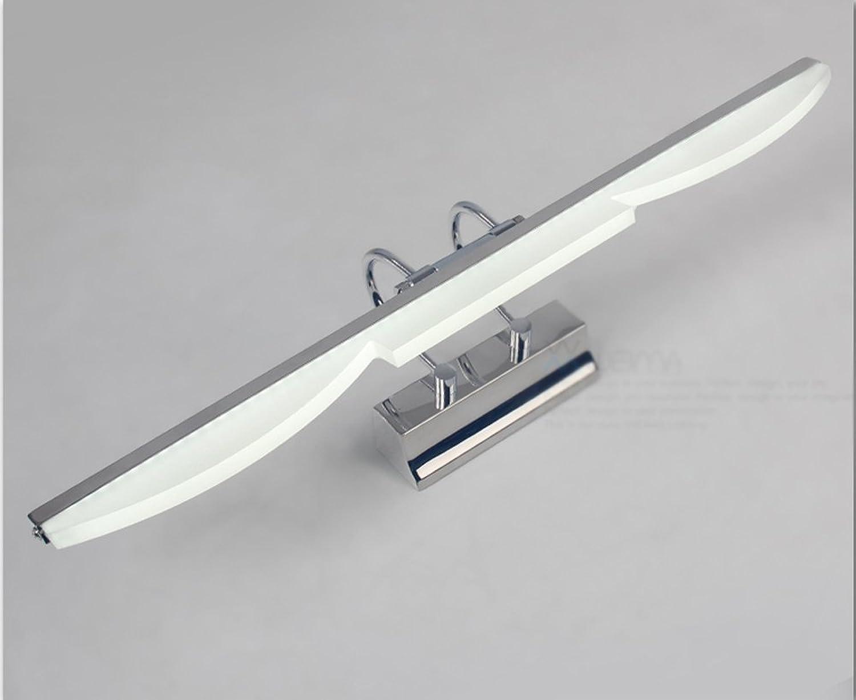 HOHE SHOP- Europische Anti-Nebel-Wasser-Edelstahl-Spiegel-Lampe Badezimmer-Spiegel-Scheinwerfer (Farbe   4w41cm-Warmwei)