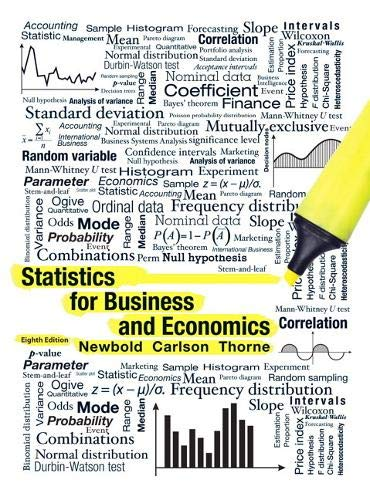 Compare Textbook Prices for Statistics for Business and Economics 8 Edition ISBN 9780132745659 by Newbold, Paul,Carlson, William,Thorne, Betty
