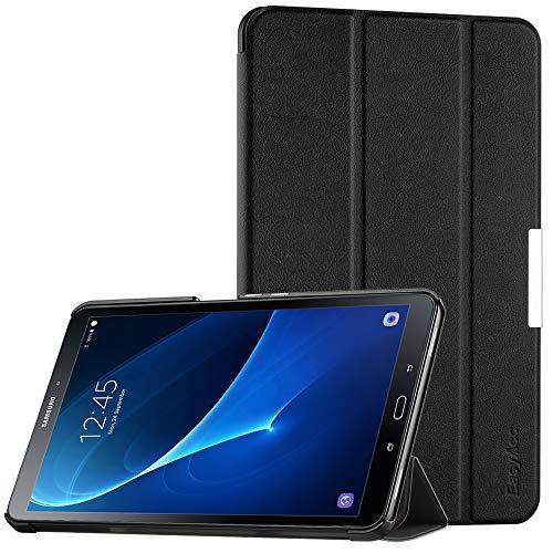 EasyAcc Ultra Dünn Hülle für Samsaung Galaxy Tab A 10.1, mit Standfunktion & Auto Sleep/Wake Up Funktion Slim Leder Hülle Ideal kompatibel für Galaxy Tab A 10.1 Zoll T580/ T585, Schwarz