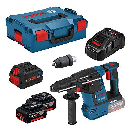 Bosch Professional GBH 18V-26F + ProCORE18V 8Ah SDS-Plus-Akku-Bohrhammer 18V 5Ah Li-Ion inkl. 3. Akk