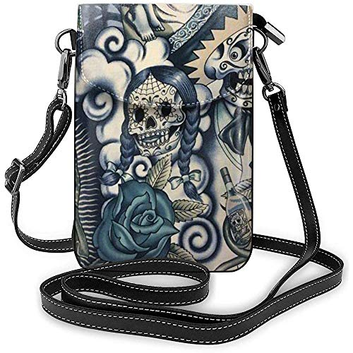 Interieur shop Crossbody-telefoonhoes telefoonhoes schoudertas (Kawaii Unicorn Abstract Psychedelic Science Chemistry)