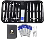 22Pcs Advanced Dissection Kit for Medical Biology & Veterinary Students- Anatomy Lab Botany Animal Frog etc Dissecting Kit. Premium Stainless Steel Scalpel Knife Handle-11 Blades