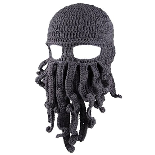 Ranboo Winter Unisex Tentakel Octopus Knit Beanie Hut Mütze Wind Ski Maske