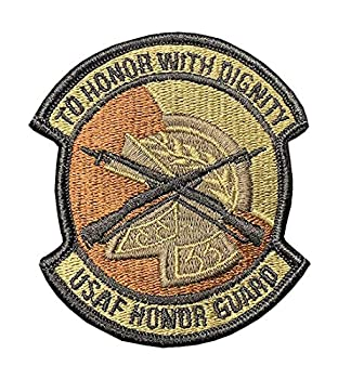 USAF Air Force Honor Guard OCP Spice Brown Patch with Hook Fastener  Military Issued -Veteran Owned Business