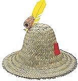 Adult Hillbilly Farmer Pilgrim Mexican Straw Hat Costume Accessory