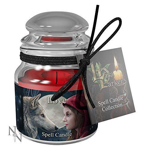Weird Or Wonderful Spell Candle - Love - Rosa por Lisa Parker - Tiempo