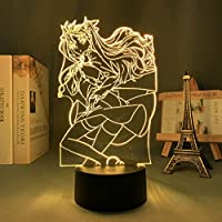 3DナイトライトforGirls、Fate&stay night Rin Tohsaka Led Lamp for Bedroom Decor Manga Fate&Stay Night Rin Tohsaka Lamp Anime for Birhday / Xmas Gift(タッチコントロール)