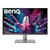 BenQ PD2720U - Monitor Profesional para Diseñadores de 27' 4K UHD (3840x2160, Thunderbolt 3, IPS, Display P3, CAD/CAM, Hotkey Puk, Daisy Chain, HDMI, DP, USB-C, Altura ajustable) - Negro /Gris