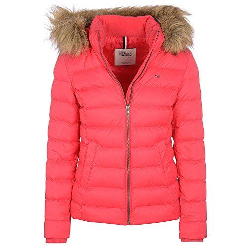 Hilfiger Denim THDW Basic Down Jacket 76 Giacca con Cappuccio, Rosa (Rose Red), 38 (Taglia produttore:M) Donna