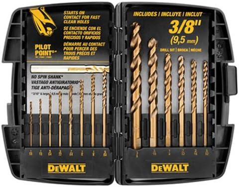 Sales for sale Max 70% OFF DEWALT DW1263 14-Piece Cobalt Pilot Drill Bit Point Set