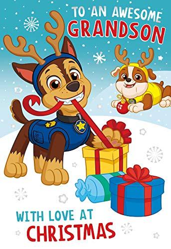 Paw Patrol - PTX10 - To an Awesome Grandson Carte de Noël