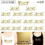 Set of 15 ,1 - DRUNK In love, 14 - Just Drunk iron on, DIY Bachelorette Party iron on for T shirt, Tank Top (#SS)