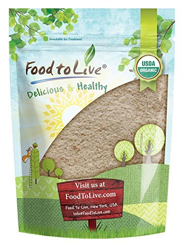 Organic Spelt Flour by Food to Live (Whole Grain, Non-GMO, Stone Ground, Raw, Vegan, Bulk, Great for Baking Bread, Product of the USA)