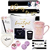 Jumway Birthday Gift Basket For Women 11 Unique Birthday Gifts For Her, Mom, Friends Female, Sister, Coworker, Wife, Girlfriend