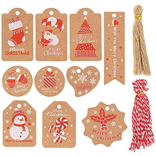 Etiquetas Kraft Navidad Marca Makone