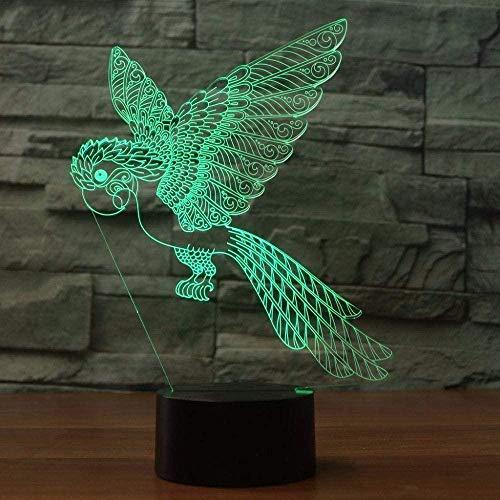 ANWEN Pappagallo Uccello LED Luci notturne USB Negozio di Animali Domestici Decorazioni per la casa Lampada RGB Luminosa Illuminazione Ambientale per Il Sonno del Bambino per Il Regalo dei Bambini