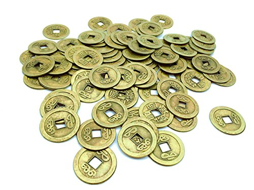 IFfree 84 Pack Chinese Good Luck Coins, Feng Shui I-ching Coins,Mixed 5 Differern Chinese Dynasty Time Coin, A Big Value, Special gift(7 Dozen)