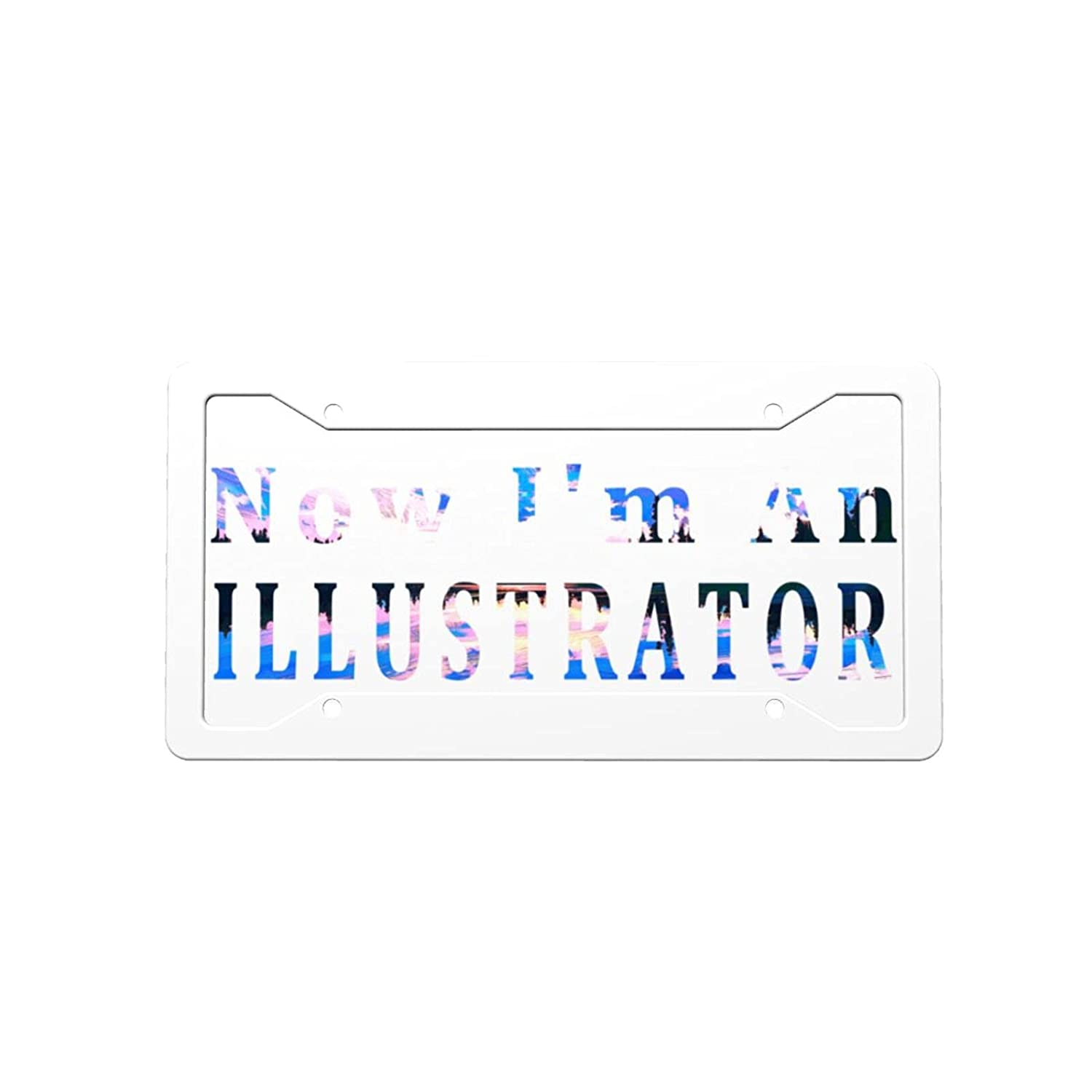 Free shipping anywhere in the nation Now Bargain I'm an Illustrator License Decorative Front Vanit Car Plate