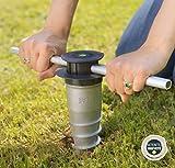 GARD & ROCK - BASE D'ANCRAGE en aluminium, affleurant le sol - Multi-terrains à visser ou à...