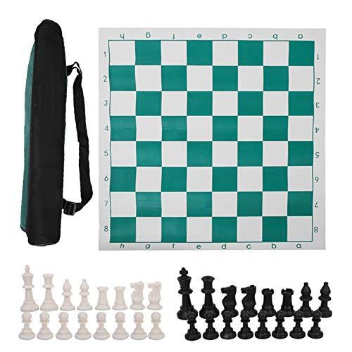 DAUERHAFT con Bolsa de Lona Grande Bolsa de ajedrez Estable Juego de...