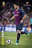 POSTER STOP ONLINE FC Barcelona - Soccer Poster/Print (Luis Suarez in Action - Season 2018/2019) (Size 24' x 36')