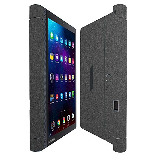 Skinomi Brushed Steel Full Body Skin Compatible with Lenovo Yoga Tab 3 Pro (Full Coverage) TechSkin with Anti-Bubble Clear Film Screen Protector