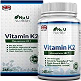Vitamin K2 MK 7 200mcg | 365 Vegetarian and Vegan Tablets (not Capsules)