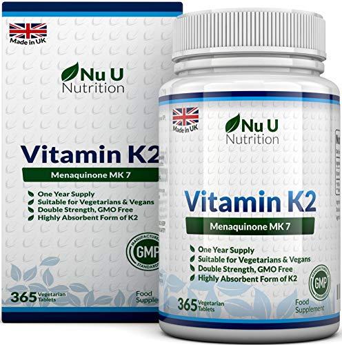 Vitamina K2 MK 7 | 365 Compresse Vegetariane e Vegane |...