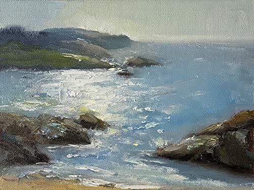 Bretagne Meerbild Bild Original Ölmalerei Gemälde 13x18 cm