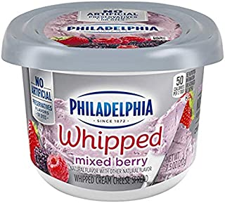 Philadelphia Cream Cheese Spread Whipped Mixed Berry, 8 oz