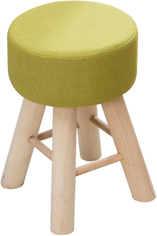 LJHA ertongcanyi Solid Wood Creative Footstool Small Bench Fashion Cloth Makeup Stool Living Room Sofa Stool (color   A)