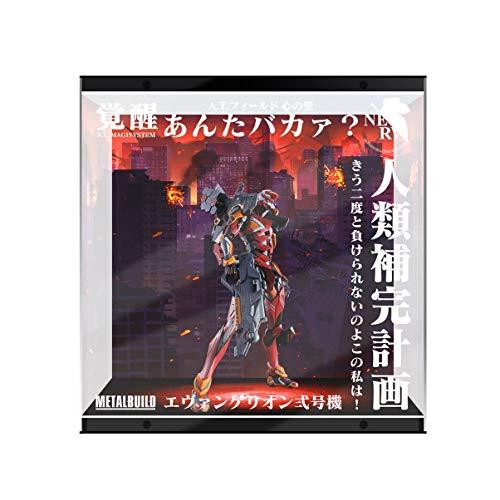 SUH MB Neon Genesis Evangelion EVA Unidad 2 Modelo Caja de Pantalla LED Pantalla de Pantalla Hecho a Mano PVC Figura Modelo Caja de visualización (Color : Up and Down Light)