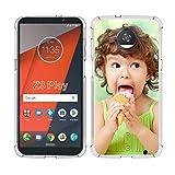 SHUMEI Coque personnalisée pour Motorola Moto Z3 Play, cadeau photo personnalisée absorption des...