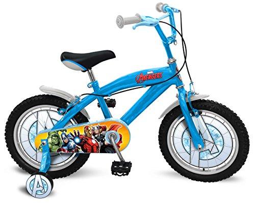 Stamp- Marvel Vélo 16 Pouces-Avengers, AV299027SE, Blue/Grey